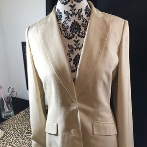NWT Jones New York Tan & Cream Lightweight Blazer
